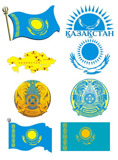 флаг и герб казахстана